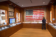 Interior of the Pritzker Military Library in Chicago USA