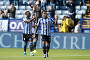 Kadeem Harris of Sheffield Wednesday gives thumbs up to the fans after the EFL Sky Bet Championship match between Sheffield Wednesday and Barnsley at Hillsborough, Sheffield, England on 10 August 2019.