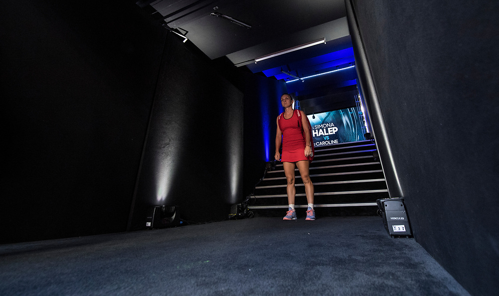 Simona Halep of Romania ahead of the women's singles championship match during the 2018 Australian Open on day 13 in Melbourne, Australia on Saturday night January 27, 2018.<br /> (Ben Solomon/Tennis Australia)