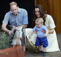 The Duke and Duchess of Cambridge and Prince George visit the Nightlife display at Taronga Zoo, view a Bilby and officially name the Prince George Bilby Exhibit, as part of their tour of New Zealand and Australia in Sydney, Australia, on the 20th April 2014