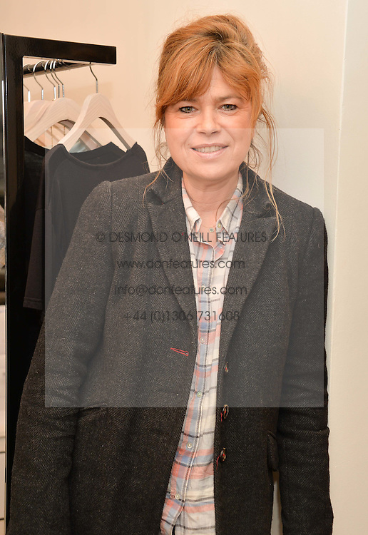 SARAH STANDING at a Valentine's charity event to raise heart awareness and support the charity Arrhythmia Alliance held at Sophie Gass, 4 Ladbroke Grove, London on 13th February 2014.