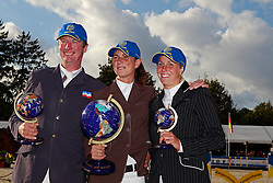 Voss Thomas (GER) - Leprevost Pénélope (FRA) - Lickhammer Erika (SWE)<br /> FEI World Breeding Jumping Championships for Young Horses 2010<br /> Photo © Hippo Foto - Leanjo de Koster