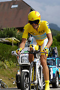 France, Talloire, 23 July 2009: Alberto Contador Velasco (Spa) Astana on the Côte de Bluffy climb during Stage 18 - a 40.5 km Annecy to Annecy individual time trial. Photo by Peter Horrell / http://peterhorrell.com .