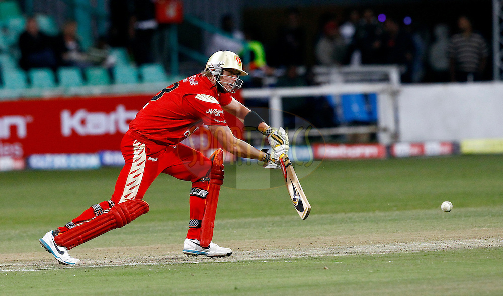 Dillon Du Preez of Royal Challengers Bangalore during match 11 of the Airtel CLT20 between The South Australian Redbacks and The Royal Challengers Bangalore held at Kingsmead Stadium in Durban on the 17 September 2010..Photo by: Gerhard Duraan/SPORTZPICS/CLT20.