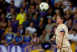 Luis Ibanez #3 of Dinamo Zagreb during Play-offs for Champions League between NK Maribor (Slovenia) and GNK Dinamo Zagreb (Croatia), on August 28, 2012, in Maribor, Slovenia. (Photo by Urban Urbanc / Sportida.com)