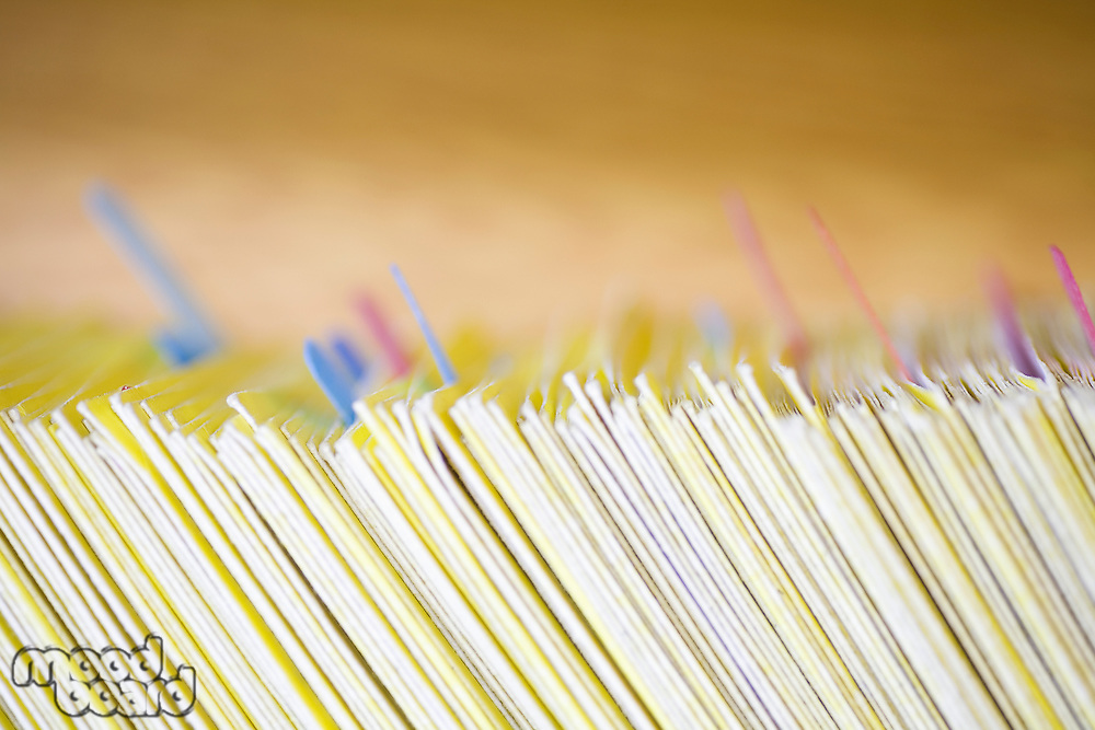 Colour coded filing system for folders