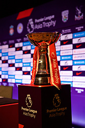 HONG KONG, CHINA - Tuesday, July 18, 2017: The Asia Trophy on display before a press conference at the Grand Hyatt Hotel Hong Kong ahead of the Premier League Asia Trophy 2017. (Pic by David Rawcliffe/Propaganda)