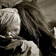 Den cancersjuka kvinna från en ort utanför Ulricehamn. Hennes största tröst var hennes hästar.