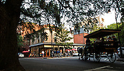 Visitors stroll the Squares in the heart of Historic downtown Savannah, Ga. Friday, May 20, 2011 in Savannah, Ga. (© 2011 Stephen B. Morton Photography)