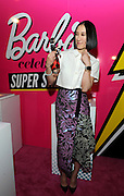 "Eva Chen, editor-in-chief of Lucky, poses with her one-of-a-kind Barbie at the Variety Power of Women event, Friday, April 24, 2015, in New York, where she was honored as a ""Shero.""  Eva, along with Ava DuVernay, Emmy Rossum, Kristin Chenoweth, Sydney ""Mayhem"" Keiser and Trisha Yearwood, are the first ever Barbie Sheroes, which celebrates women who are inspiring girls.  (Photo by Diane Bondareff/Invision for Barbie/AP Images)"