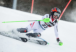 "Stephanie Brunner (AUT) competes during 1st Run of FIS Alpine Ski World Cup 2017/18 Ladies' Slalom race named ""Snow Queen Trophy 2018"", on January 3, 2018 in Course Crveni Spust at Sljeme hill, Zagreb, Croatia. Photo by Vid Ponikvar / Sportida"