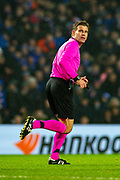 Referee Felix Brych (GER) during the Europa League Group G match between Rangers FC and BSC Young Boys at Ibrox Park, Glasgow, Scotland on 12 December 2019.