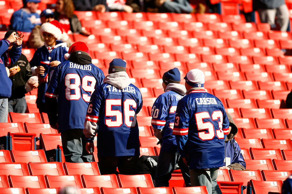 EAST RUTHERFORD, NJ - DECEMBER 24: New York Giants fans during a game between the New Orleans Saints and the New York Giants on December 24, 2006 at Giants Stadium in East Rutherford, New Jersey. The Saints defeated the Giants 30-7.