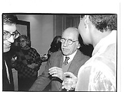 Saul Steinberg at Jamaica Kincaid party approx 1990© Copyright Photograph by Dafydd Jones 66 Stockwell Park Rd. London SW9 0DA Tel 020 7733 0108 www.dafjones.com
