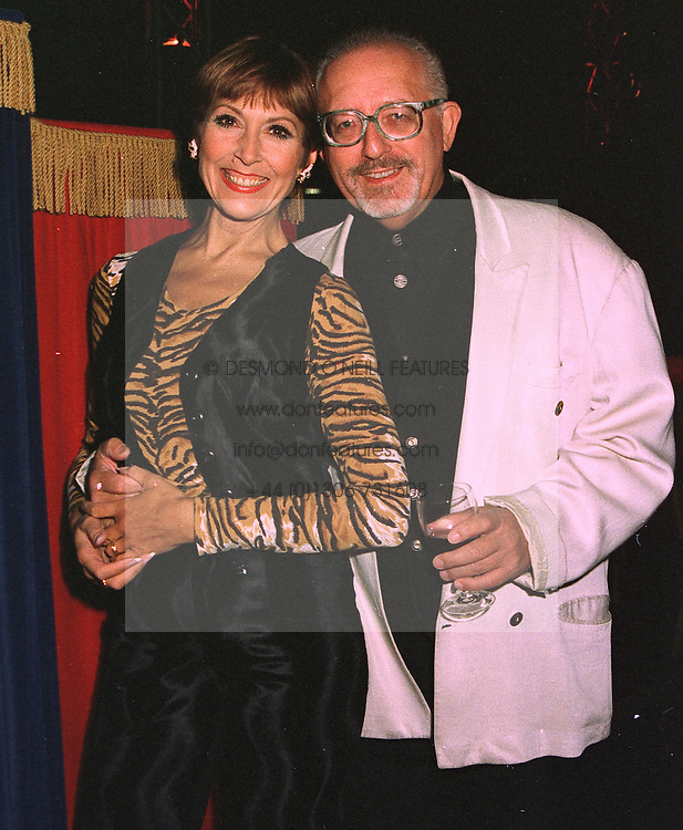 Actress ANITA HARRIS and her husband MR MIKE MARGOLIS, at a party in London on October 21st 1997.MCI 7