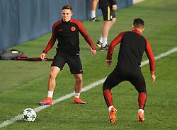 Pablo Maffeo of Manchester City trains with Sergio Aguero - Mandatory by-line: Matt McNulty/JMP - 31/10/2016 - FOOTBALL - City Football Academy - Manchester, England - Manchester City v Barcelona - UEFA Champions League - Group C