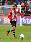 Craig Woodman (3) of Exeter City during the EFL Sky Bet League 2 match between Exeter City and Swindon Town at St James' Park, Exeter, England on 24 March 2018. Picture by Graham Hunt.