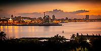 Havana, Cuba skyline at sunset