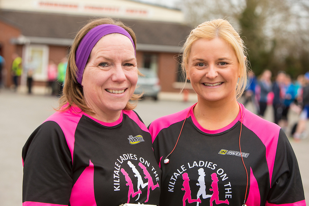 Bohermeen AC 10km & Half Marathon Road Races, 12th March 2016<br /> Pictured at the Bohermeen AC 10km & Half Marathon Road Races: L-R, Debbie Gorman & Claire Roche (Kilmessan)<br /> Photo: David Mullen /www.cyberimages.net / 2016