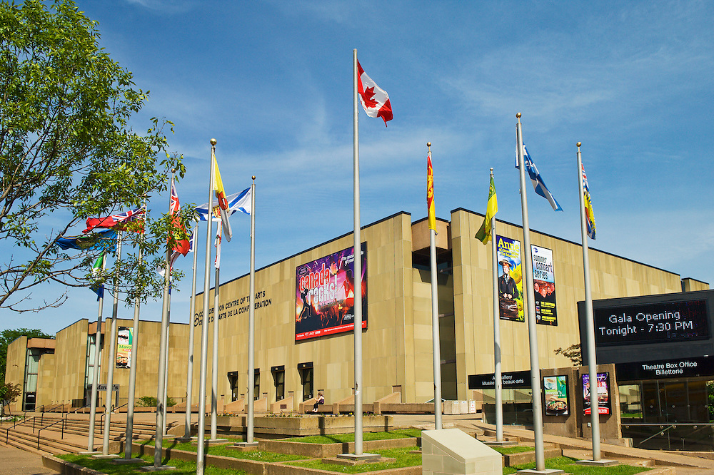Confederation Centre of the Arts in downtown Charlottetown, Prince Edward Island, Canada.