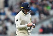 Jason Roy of England looks dejected during the International Test Match 2019, fourth test, day three match between England and Australia at Old Trafford, Manchester, England on 6 September 2019.
