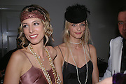 Sally Brochet and Sarah Marshall. Andy & Patti Wong's Chinese New Year party to celebrate the year of the Rooster held at the Great Eastern Hotel, Liverpool Street, London.29th January 2005. The theme was a night of hedonism in 1920's Shanghai. . ONE TIME USE ONLY - DO NOT ARCHIVE  © Copyright Photograph by Dafydd Jones 66 Stockwell Park Rd. London SW9 0DA Tel 020 7733 0108 www.dafjones.com