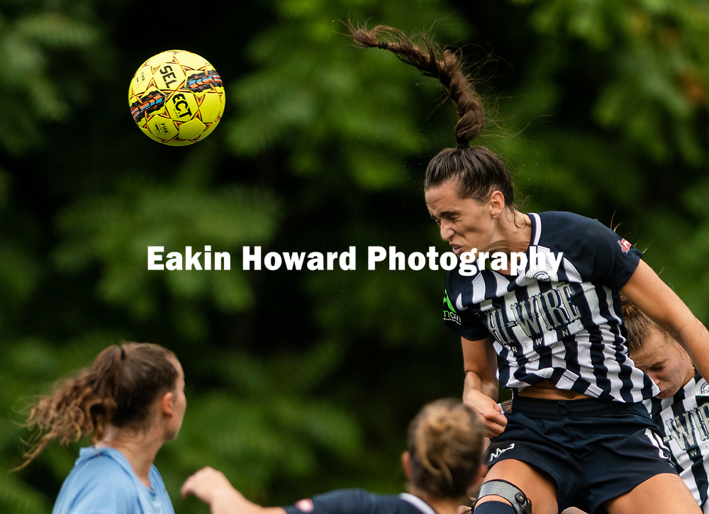 The Women's Asheville City Soccer Club defeated Lake Norman 6-0 in Memorial Stadium in Asheville, NC on June 12, 2018.
