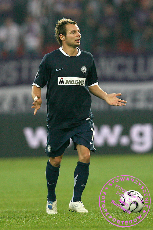 WARSZAWA 14/09/2006..UEFA CUP QUALIFICATION ROUND..LEGIA WARSZAWA _ AUSTRIA MAGNA WIEN.. ROMAN WALLNER OF AUSTRIA WIEN..FOT. PIOTR HAWALEJ / WROFOTO