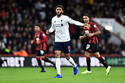 Joe Gomez (12) of Liverpool during the Premier League match between Bournemouth and Liverpool at the Vitality Stadium, Bournemouth, England on 7 December 2019.