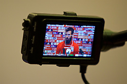 CARDIFF, WALES - Tuesday, November 8, 2016: Wales' Joe Ledley during a press conference at the Vale Resort ahead of the 2018 FIFA World Cup Qualifying Group D match against Serbia. (Pic by David Rawcliffe/Propaganda)