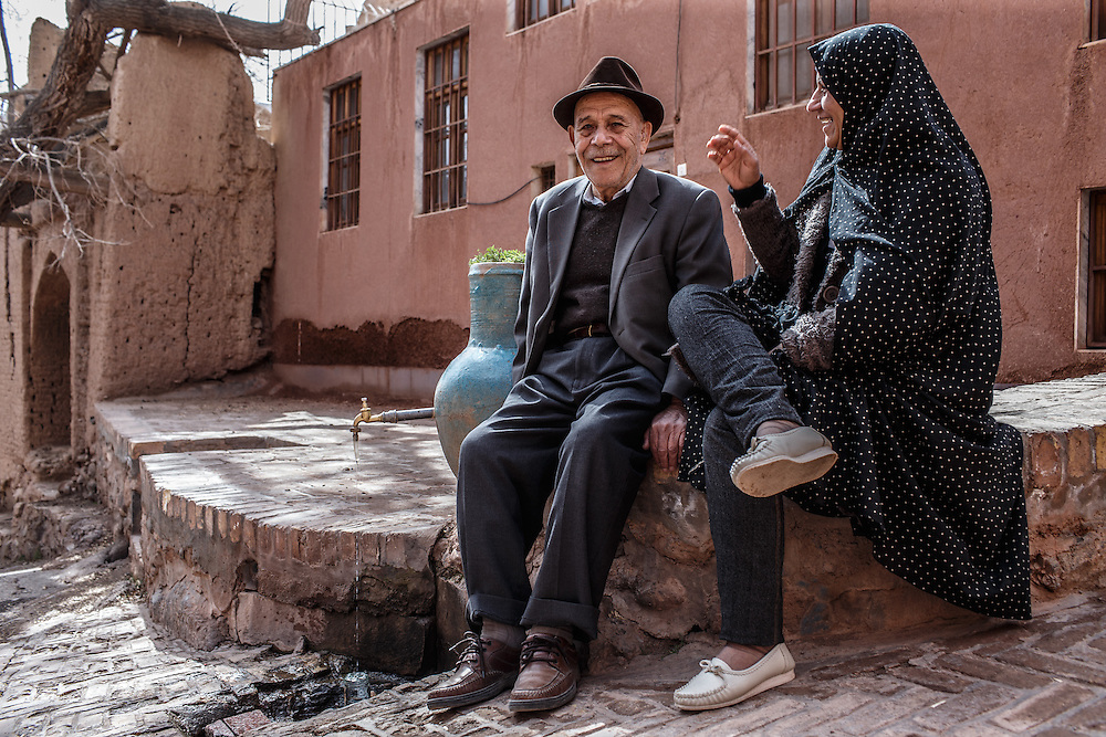 Abiyaneh, 2500 years old iranian village where people still living. Locals are very nice and opened to strangers. They like to talk about everything.