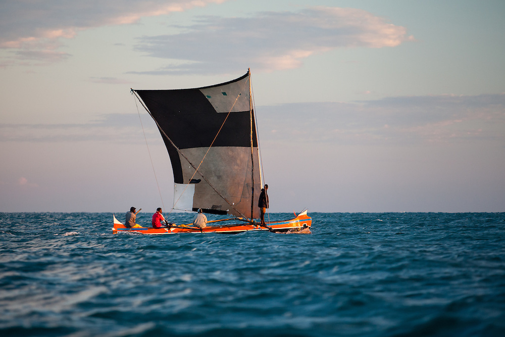 Traditional fishers from southwest Madagascar migrating northwards up the west coast of Madagascar.  Faced with collapsing fishing stocks and no alternative to fishing, Vezo fishers from southwest Madagascar have increasingly turned to migration as a way to survive.  Many sail hundreds of kilometres north to very isolated parts of the coast and small islands where they can still find productive fishing grounds.