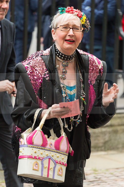 © Licensed to London News Pictures. 07/06/2017.  London, UK. SU POLLARD attends the Memorial Service of RONNIE CORBETT at Westminster Abbey. The entertainer, comedian, actor, writer, and broadcaster was best known for his long association with Ronnie Barker in the BBC television comedy sketch show The Two Ronnies. Photo credit: Ray Tang/LNP