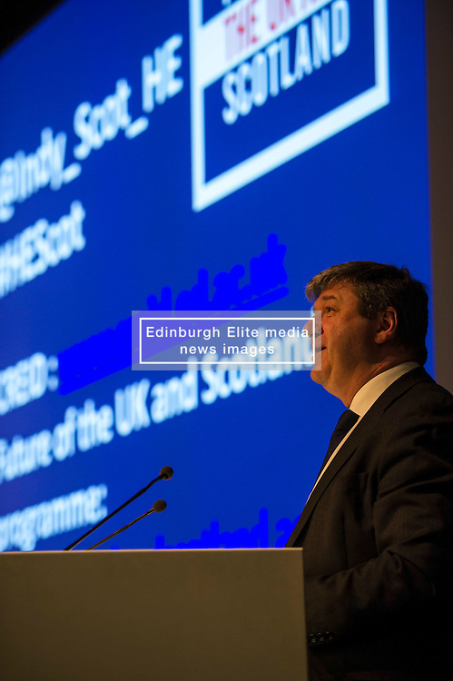 UK Scottish Secretary, Alistair Carmichael gave a speech on education at the ESRC's Future of the UK and Scotland seminar. The seminar considered the implications for higher education in the event of further devolution or independence. <br /> 29 January 2014 (c) GER HARLEY | StockPix.eu