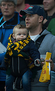 Twickenham. Great Britain,  Young, Sprigbok Supporter, Semi Final. South Africa vs New Zealand  2015 Rugby World Cup,  Venue, Twickenham Stadium, Surrey England.   Saturday  24/10/2015.   [Mandatory Credit; Peter Spurrier/Intersport-images]