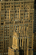 New York . elevated view  on Manhattan cityscape. old buildings art deco ,Midtown skyline  New York  Usa  view from the empire state building / buildings art deco , panorama de midtown  New York  USa