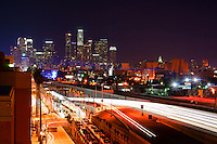 LA Skyline from Harbor Freeway