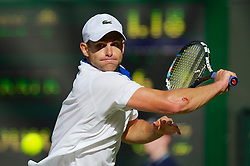 LONDON, ENGLAND - Saturday, June 30, 2012: Andy Roddick (USA) during the Gentlemen's Singles 3rd Round match on day five of the Wimbledon Lawn Tennis Championships at the All England Lawn Tennis and Croquet Club. (Pic by David Rawcliffe/Propaganda)