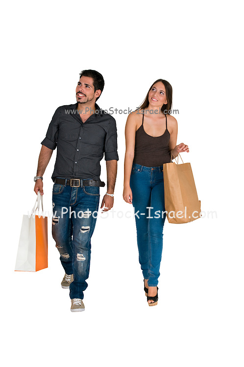 A couple out shopping together