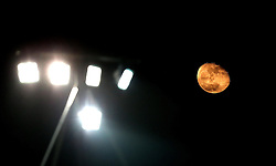 The orange moon shines over Rodney Parade during the European Rugby Challenge Cup match between Newport Gwent Dragons and Worcester Warriors - Mandatory by-line: Robbie Stephenson/JMP - 16/12/2016 - RUGBY - Rodney Parade - Newport, Wales - Newport Gwent Dragons v Worcester Warriors - European Rugby Challenge Cup
