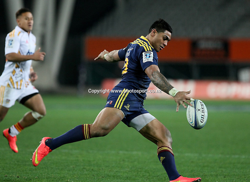 Malakai Fekitoa of the Highlanders in the Super 15 rugby match, Highlanders v Chiefs, Forsyth Barr Stadium, Dunedin, New Zealand, Friday, June 27, 2014. Photo: Dianne Manson / www.photosport.co.nz