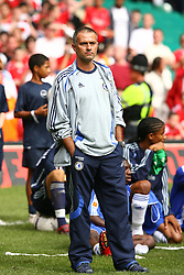 CARDIFF, WALES - SUNDAY, AUGUST 13th, 2006: Chelsea's manager Jose Mourinho looks dejected after losing 2-1to Liverpool during the Community Shield match at the Millennium Stadium. (Pic by David Rawcliffe/Propaganda)