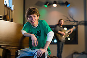 Chris Castle, owner of Dirtsandwitch Music Company in Norwalk, OH on Tuesday, Feb. 4, 2014.