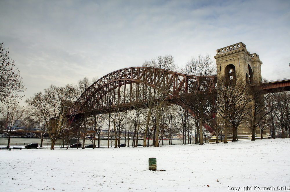 Hellgate Bridge on a winters day.