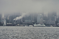 Foggy Seattle Waterfront from Harbor Avenue