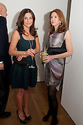 ELLA KRASNER; KIM ROBSON-ORTIS, THE LAUNCH OF THE KRUG HAPPINESS EXHIBITION AT THE ROYAL ACADEMY, London. 12 December 2011.
