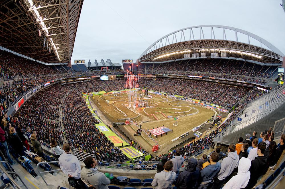 2013 AMA Supercross.Century Link Field.Seattle, Washington..April 20, 2013