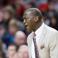 06 December 2013: Utah Jazz head coach Tyrone Corbin reacts during the Portland Trail Blazers 130-98 victory over the Utah Jazz at the Moda Center, Portland, Oregon, USA.
