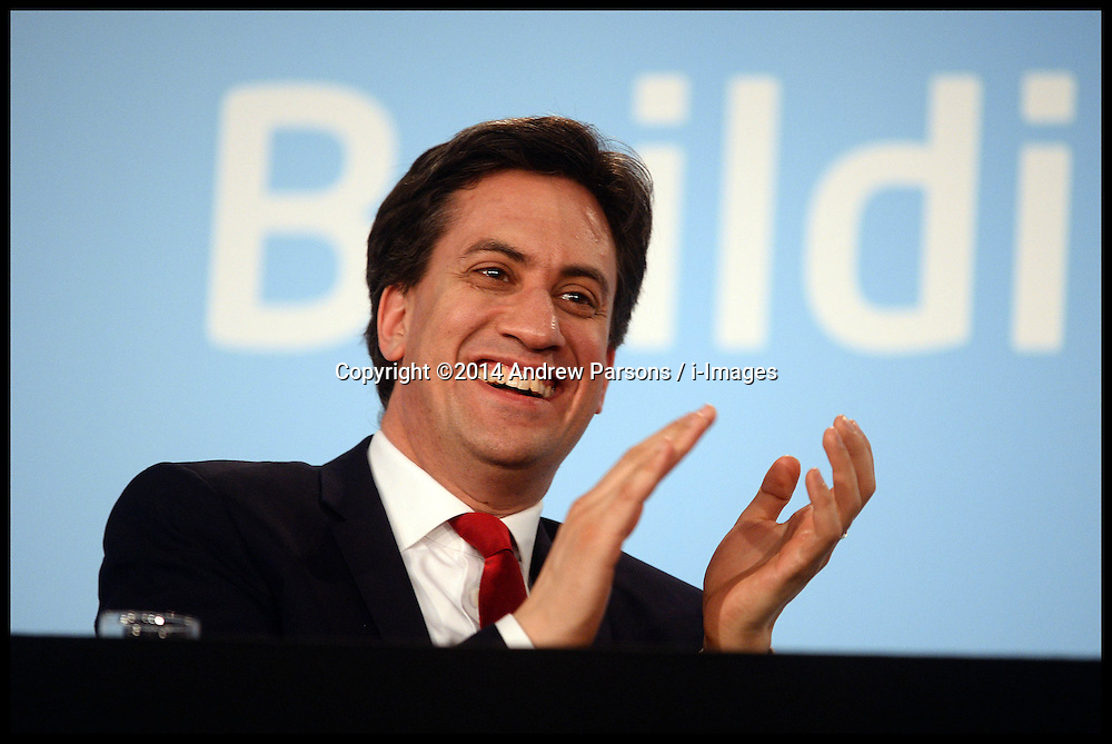 The Leader of the Labour Party Ed Miliband  at the  Labour Party Special Conference being held at the Excel Centre. London, United Kingdom. Saturday, 1st March 2014. Picture by Andrew Parsons / i-Images