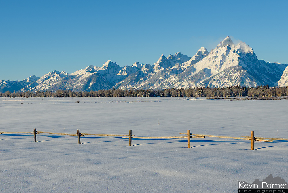 Grand Teton looms in the distance as seen from Elk Ranch Flats.